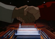 Ippo and Sendo shake hands before their fight
