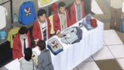 Umezawa selling Takamura merchandise