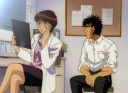 Yamaguchi checking on Ippo's x-ray