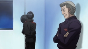 Miyata talking to his father about the Dempsey Roll's weakness