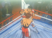 Ippo unconsciously stopping Volg's right straight