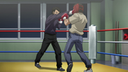 One punch knockout in a spar of Sawamura