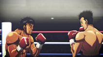 Sawamura and Shimabukuro fighting