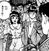 Kimura spotting Reiko with another man