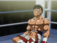 Ippo Exhausted from the First Defence