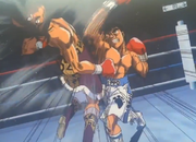 Ippo defeating Saeki
