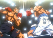Ippo and Sendo exchange