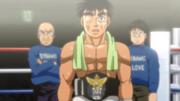 Kamogawa and Yagi with Ippo after his win against Shimabukuro
