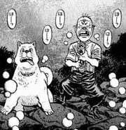 Nekota and Hachi searching for Takamura