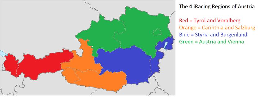 Austria iRacing Regions
