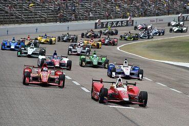 Indycar-texas-2016-start-carlos-munoz-andretti-autosport-honda-leads