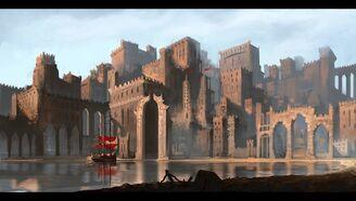 Desert port city by ravirr17-d5rsb4t