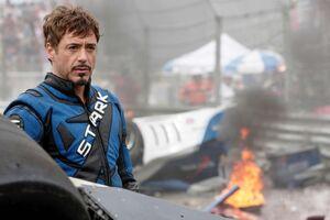Tony in his racing suit