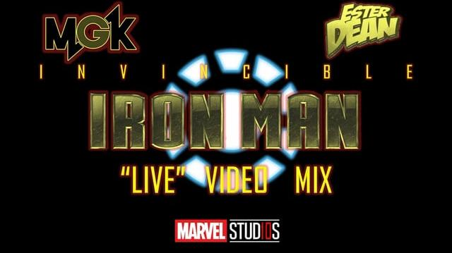 "MGK feat. Ester Dean- Invincible (Iron Man ""Live"" Video Mix)"