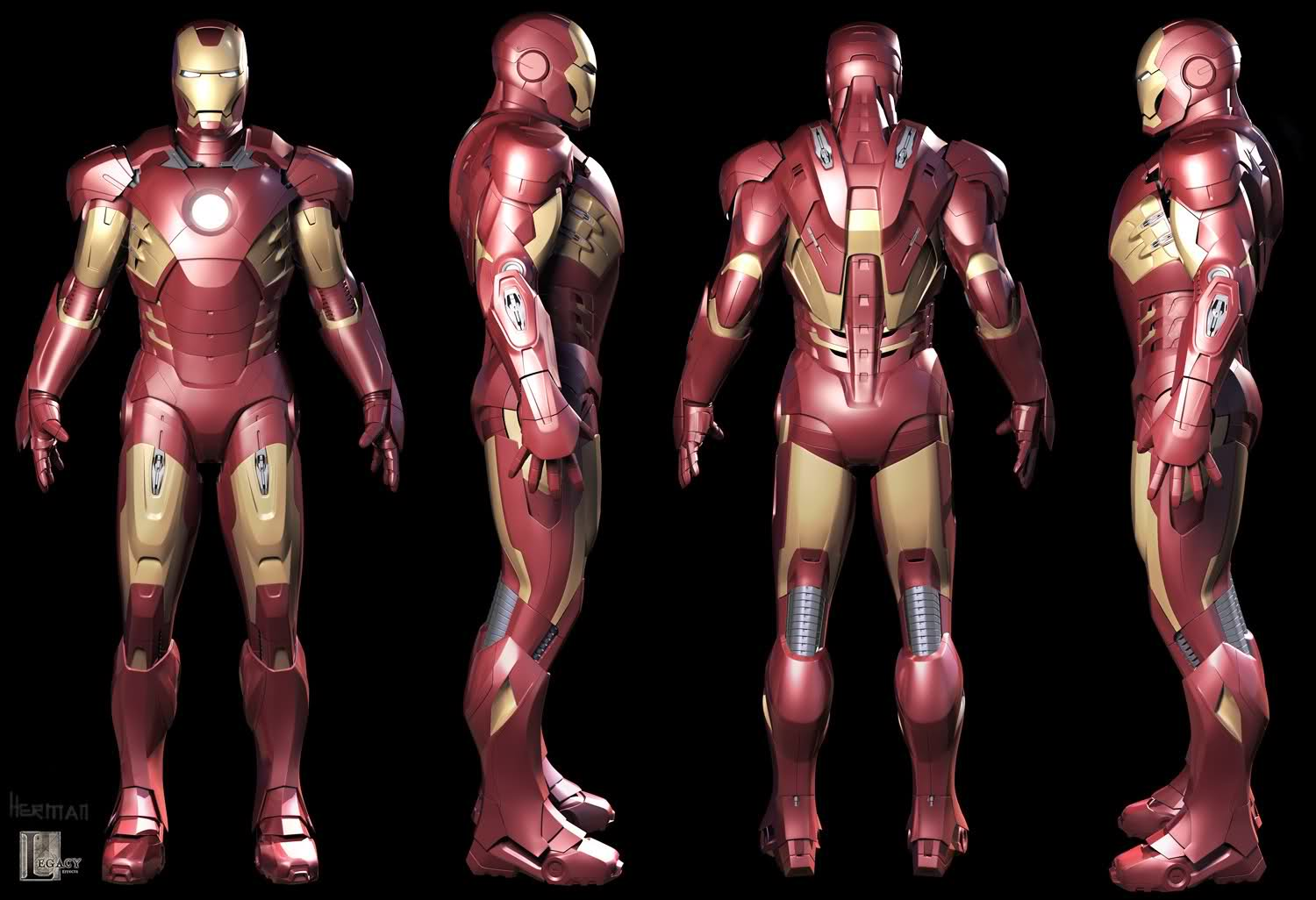 Image - Iron man mark vii armored suit 3d model by scarlighter ...