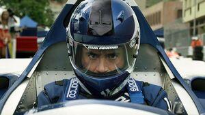 Tony in his race car