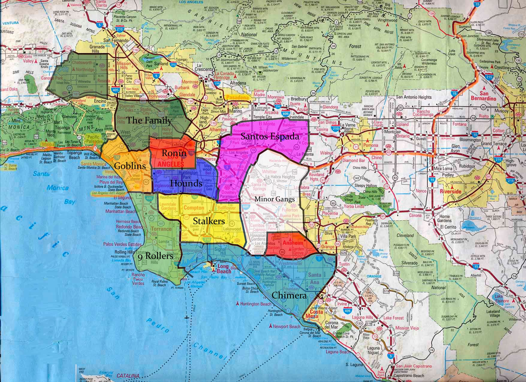 Gang Map Los Angeles Image   Villain Quest Gang Map. | The Iron Master Wiki | FANDOM  Gang Map Los Angeles