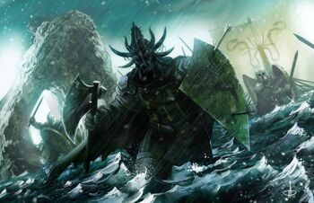 Victarion Greyjoy leads the landing at the Neck