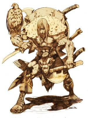 Barbarian traveler by Brolo