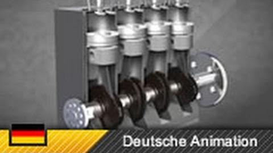 Dieselmotor 4-Zylinder-Motor Viertakter - Funktionsweise (Animation)