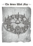 Capital city seven wall map