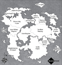 Reverse World Map English