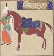 Safavid Dynasty, Horse and Groom, by Haydar Ali, early 16th century