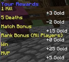 Rewards for Warfare