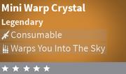 Mini Warp Crystal