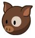 Brown spotshire pig barn