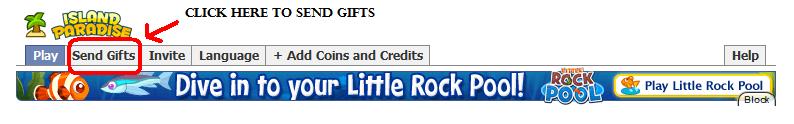 Send gift button