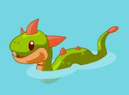 Sea monster baby