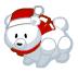 Holiday polar bear barn