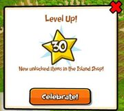 Leveling up message