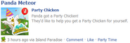 Party chicken wall post