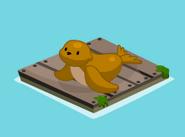 Floating sea lion