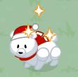 Holiday polar bear harvestable
