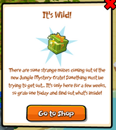 Jungle mystery crate popup