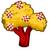 Checkered paper tree chart