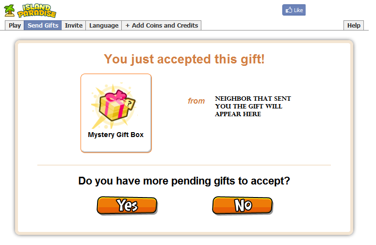 Accepted gift