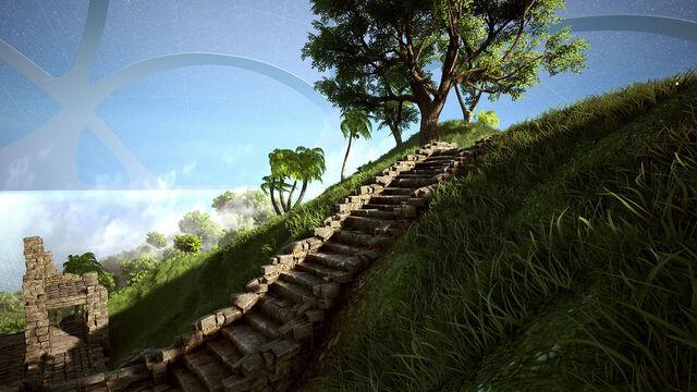 File:Cloudy peak stairs.jpg