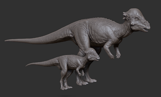 Juvenile Pachycephalosaurus Model The Isle