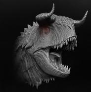 Hyperendocrin Carnotaurus 3D Model Art The Isle