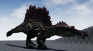 Hyperendocrin Spinosaurus 3D Model Crouching The Isle