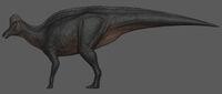 Melanistic Corythosaurus The Isle
