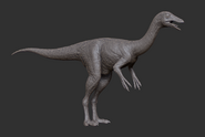 Juvenile Gallimimus 3D Model The Isle