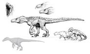 Hyperendocrin Utahraptor Concept Art The Isle