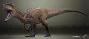 Allosaurus fragilis the isle by littlebaardo