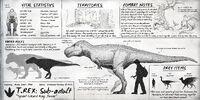 Sub-Adult Tyrannosaurus Dossier The Isle