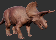 Triceratops 3D Model Art The Isle